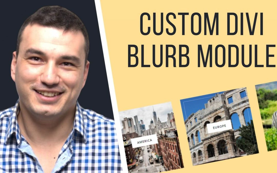 Custom Divi Blurb Module Design With Hover & Zoom Effect