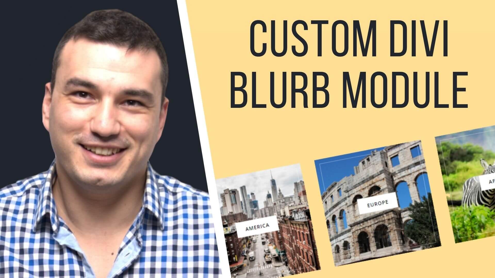 How to make a custom DIVI Blurb module